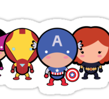 The Cute Avengers Sticker