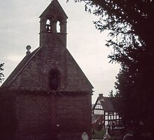 West end of Saxon Church Kilpeck England 198405170043 by Fred Mitchell