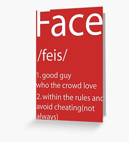 Face definition Greeting Card
