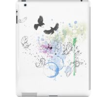 Artistic Birds and Feathers iPad Case/Skin