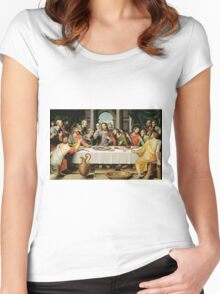 THE LAST SUPPER Women's Fitted Scoop T-Shirt