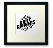 Drift Corners Framed Print