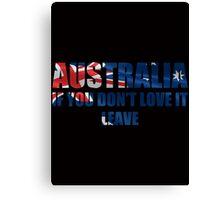Australia Love It - Flag Cutout Canvas Print