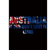 Australia Love It - Flag Cutout Photographic Print