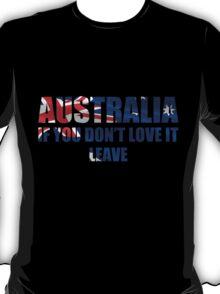 Australia Love It - Flag Cutout T-Shirt