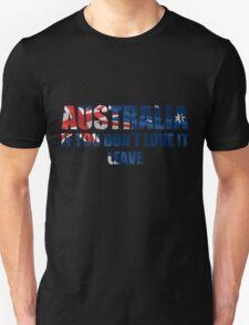 Australia Love It - Flag Cutout Unisex T-Shirt