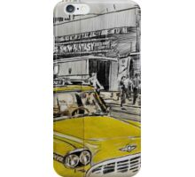 big yellow cab iPhone Case/Skin