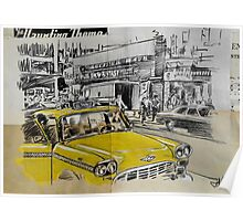 big yellow cab Poster