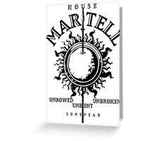 HOUSE MARTELL 1 Greeting Card