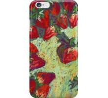 Strawberries on a table iPhone Case/Skin