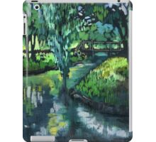 Late spring landscape with river Likhoborka and a willow tree iPad Case/Skin