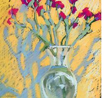 Still life with carnations in a vase by kira-culufin