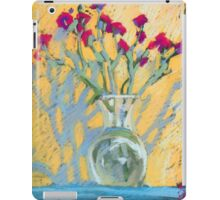 Still life with carnations in a vase iPad Case/Skin