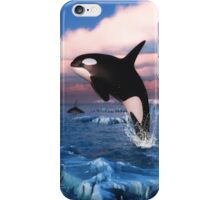 Killer Whales In The Arctic Ocean iPhone Case/Skin