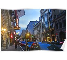 Bush Street Downtown Poster