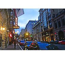 Bush Street Downtown Photographic Print