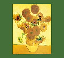 Van Gogh's Sunflowers in a Vase by Greenbaby