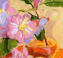 Rhododendron's flowers in a vase by kira-culufin