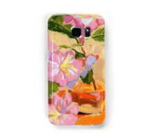 Rhododendron's flowers in a vase Samsung Galaxy Case/Skin