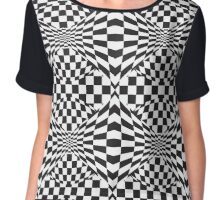 Op Art Pattern Chiffon Top