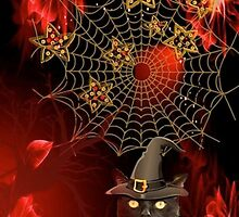 HALLOWEEN CAT IN HAT by elenimac