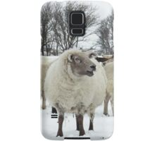 Flock of sheep in the snow Samsung Galaxy Case/Skin