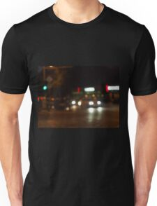 Blur and defocused lights from the headlights Unisex T-Shirt
