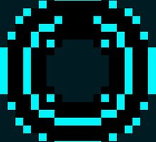 8 Bit Disc Aqua by Savark
