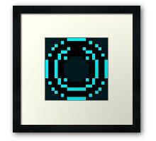 8 Bit Disc Aqua Framed Print