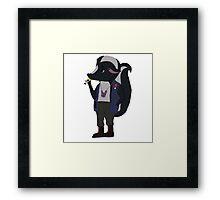 Skunk Rock Framed Print