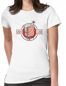 Sushi Love Womens Fitted T-Shirt