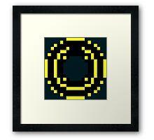 8 Bit Disc Gold Framed Print