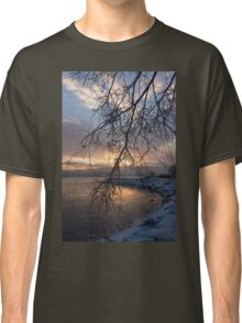 A Curtain of Frozen Branches - Ice Storm Sunrise Classic T-Shirt
