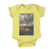 A Curtain of Frozen Branches - Ice Storm Sunrise One Piece - Short Sleeve