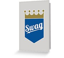 Royal Swag Crown Greeting Card