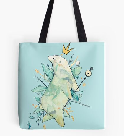 Polar bear king Tote Bag