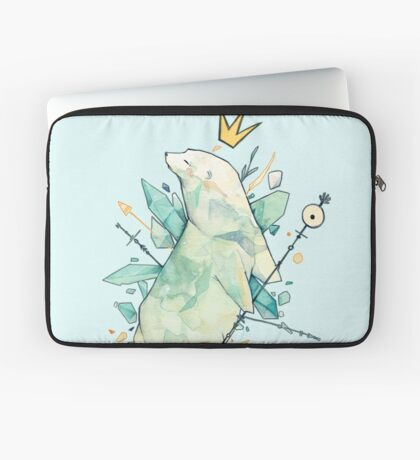 Polar bear king Laptop Sleeve