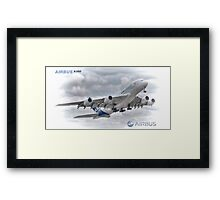 Airbus A380 Take-Off - Duvets, Cases, Pillows etc Framed Print