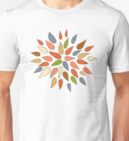 Abstract colorful flowers on white background. Unisex T-Shirt