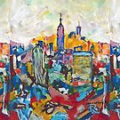 New York City Abstract Skyline By RD Riccoboni by RDRiccoboni