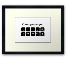 Choose Your Weapon - Punctuation Framed Print