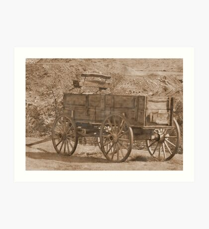 Vintage Wagon in Yellowstone Art Print