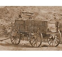Vintage Wagon in Yellowstone Photographic Print
