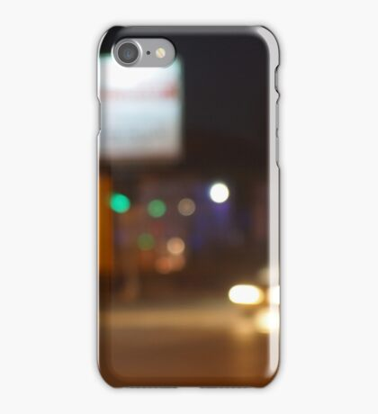 Defocused lights on the stream of cars iPhone Case/Skin