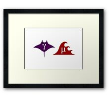 Gamma Ray and Micro Wave Framed Print