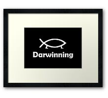 Darwinning (White design) Framed Print