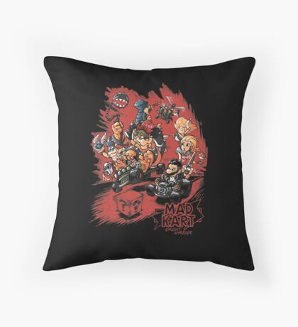 Mad Kart Throw Pillow