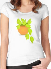 Plant pots Women's Fitted Scoop T-Shirt