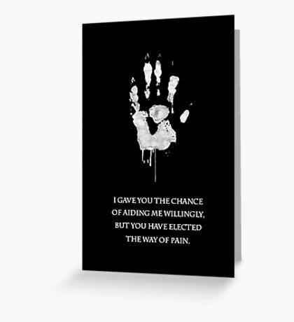 White Hand Greeting Card