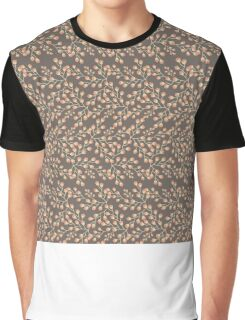 Dainty Flower Print in Brown, Orange, and Green Graphic T-Shirt